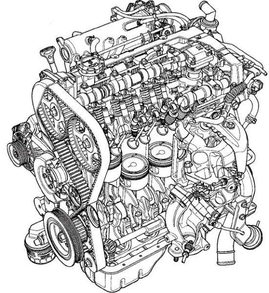 The Mitsubishi 4G63 engine